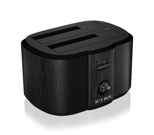 ICY BOX IB-124CL-U3 HDD/SSD Dockingstation (Schwarz)