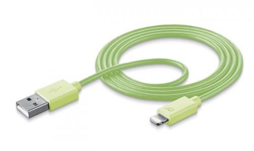 Cellular Line USBDATAMFISMARTG USB Lightning Grün Handykabel (Grün)