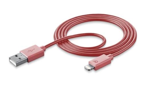 Cellular Line USBDATAMFISMARTP USB Lightning Pink Handykabel (Pink)