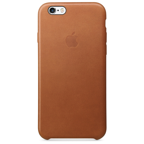 Apple iPhone 6s Leder Case – Sattelbraun (Braun)