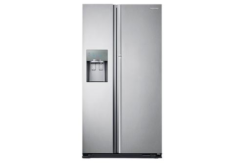 Amerikanischer Kühlschrank Side By Side : Samsung rh j sl side by side kühlschrank edelstahl in