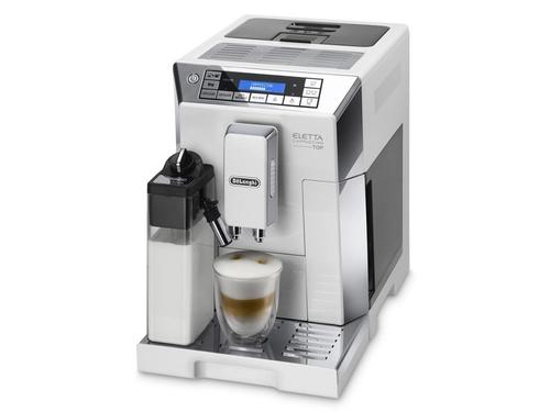 DeLonghi ECAM 45.766.W Espressomaschine 1.9l Edelstahl, Weiß Kaffeemaschine (Edelstahl, Weiß)