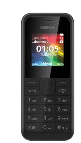 "Nokia 105 1.45"" Schwarz (Schwarz)"