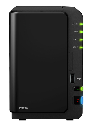 Synology DS216 Speicherserver (Schwarz)