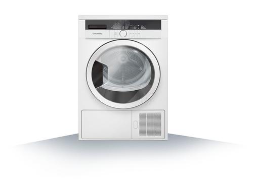 Grundig GTA 38261 G A+++ Freistehend 8kg Front-load Weiß Wäschetrockner (Weiß)