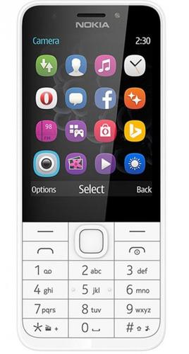 """Nokia 230 DS 2.8"""" 92g Silber, Weiß (Silber, Weiß)"""