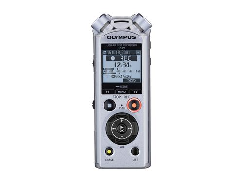Olympus LS-P1 Interner Speicher & Flash-Karte Diktiergerät (Silber)
