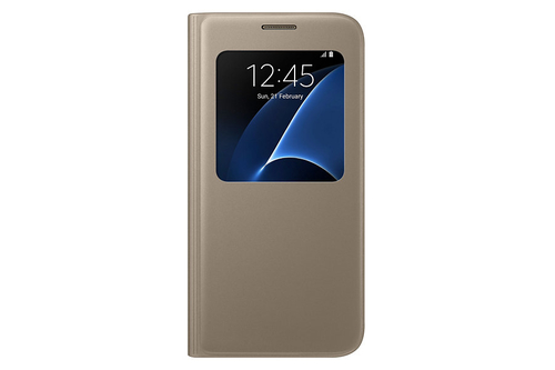 "Samsung S View Cover 5.1"" Flip (Gold)"