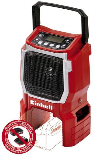 Einhell TE-CR 18 Li-solo Tragbar Digital Schwarz, Rot Radio (Schwarz, Rot)