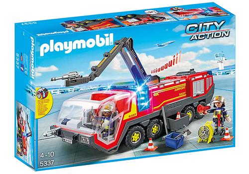 Playmobil City Action Flughafenlöschfahrzeug mit Licht und Sound (Mehrfarben)