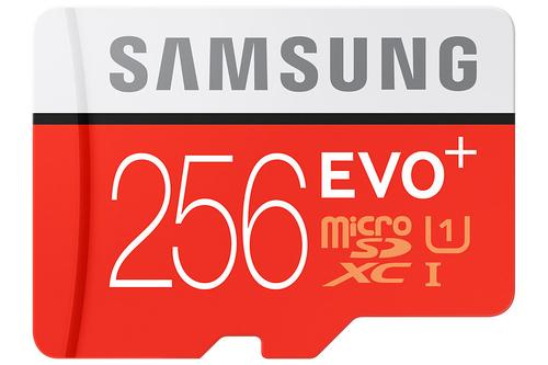 Samsung EVO Plus MB-MC256D 256GB MicroSDXC UHS-I Klasse 10 Speicherkarte (Rot, Weiß)