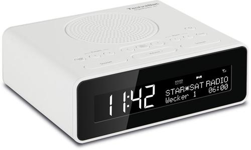 TechniSat DigitRadio 51 Uhr Digital Weiß Radio (Weiß)
