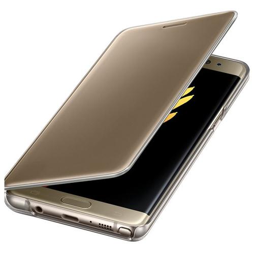Samsung EF-ZN930CFEGWW 5.7Zoll Folio Gold,Transparent Handy-Schutzhülle (Gold, Transparent)