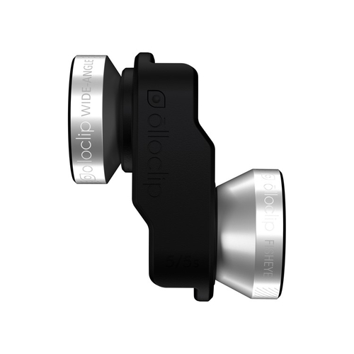 olloclip 4-IN-1 Fischauge, macro & wide Schwarz, Silber Handy-Linse (Schwarz, Silber)