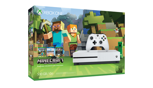 Microsoft Xbox One S Minecraft Favorites Bundle (500 GB) (Weiß)