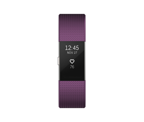 Fitbit Charge 2 (Violett, Silber)