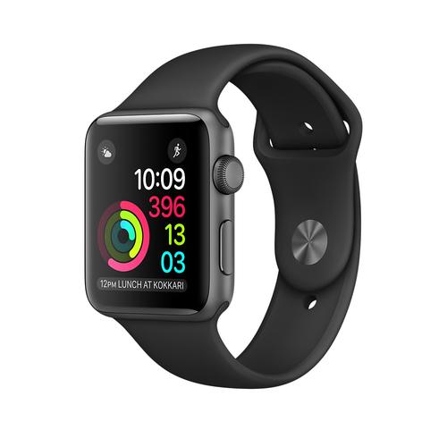 Apple Watch Series 1 OLED 25g Grau (Schwarz, Grau)
