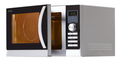 Sharp R843INW Kombi-Mikrowelle 25l 900W Silber Mikrowelle (Silber)