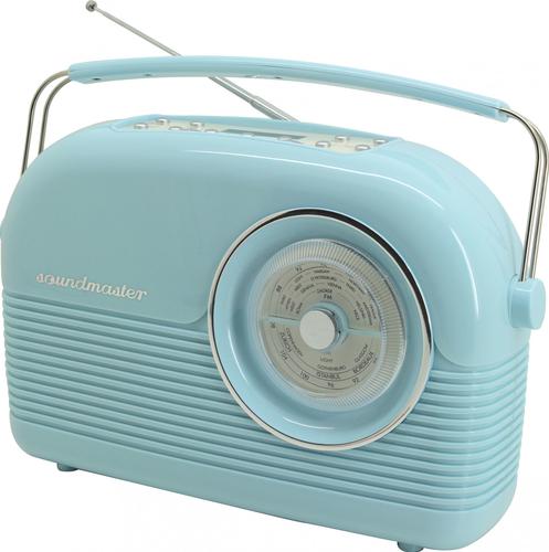Soundmaster Retro Persönlich Analog & digital Blau Radio (Blau)