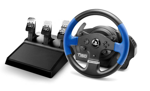 Thrustmaster T150 PRO ForceFeedback Reifen + Pedale PC,PlayStation 4,Playstation 3 Schwarz, Blau (Schwarz, Blau)