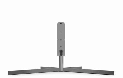 LOEWE 72715D00 65Zoll Fixed flat panel floor stand Grau Flachbildschirm-Bodenhalter (Grau)