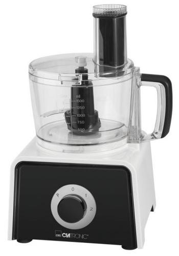 Clatronic KM 3645 600W 1.5l Schwarz, Weiß Küchenmaschine (Schwarz, Transparent, Weiß)