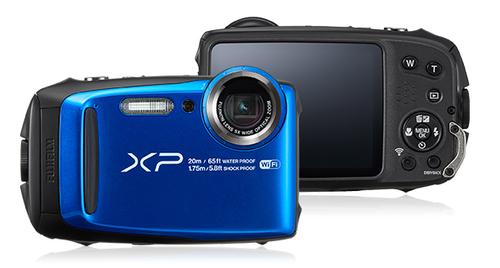 Fujifilm FinePix XP120 Kompaktkamera 16.4MP 1/2.3Zoll CMOS 4608 x 3456Pixel Schwarz, Blau (Schwarz, Blau)