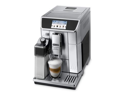 DeLonghi PrimaDonna Elite Experience ECAM 656.85.MS Freistehend Vollautomatisch Espressomaschine Schwarz, Metallisch (Schwarz, Metallisch)
