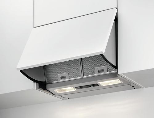 AEG DEB2630S Halbeingebaut (ausziehbar) 352m³/h D Weiß (Silber)