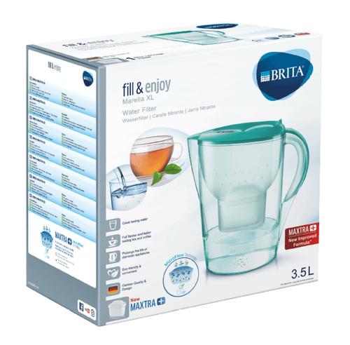 Brita fill&enjoy Marella XL Pitcher-Wasserfilter 3.5l Grün (Grün, Transparent)