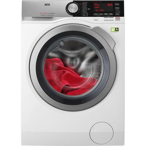 AEG L9FE86495 Freistehend Frontlader 9kg 1400RPM A+++ Weiß Waschmaschine (Weiß)