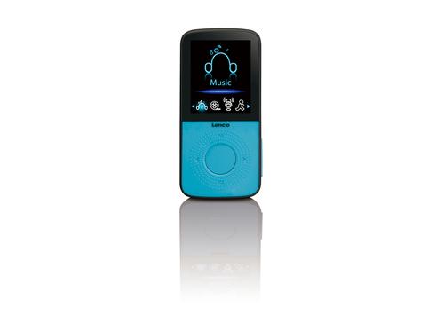 Lenco PODO-153 MP3 4GB Schwarz, Blau (Schwarz, Blau)
