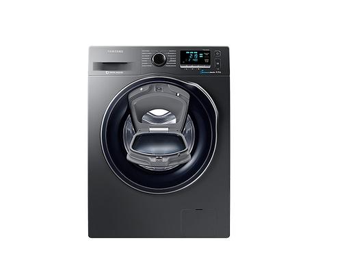 Samsung WW80K6404QX Freistehend Frontlader 8kg 1400RPM A+++ Schwarz Waschmaschine (Schwarz)