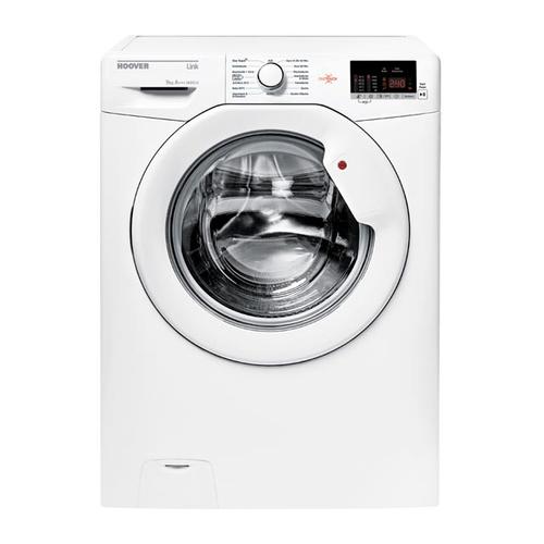 Hoover LINK Freistehend Frontlader 9kg 1400RPM A+++ Weiß Waschmaschine (Weiß)