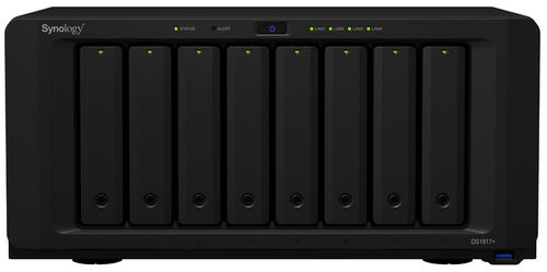 Synology DS1817+ NAS Desktop Eingebauter Ethernet-Anschluss Schwarz (Schwarz)