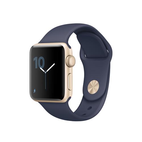 apple watch series 2 oled gold smartwatch blau. Black Bedroom Furniture Sets. Home Design Ideas
