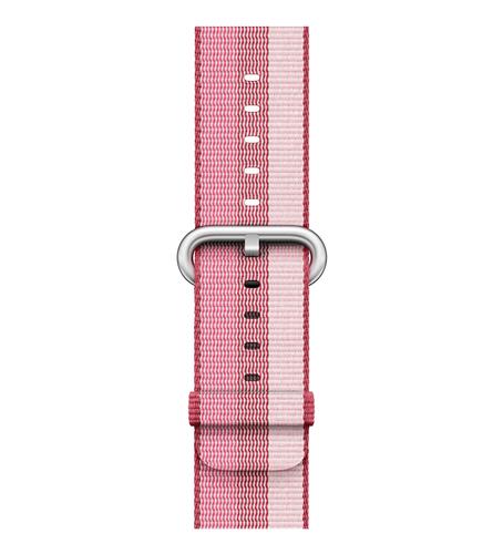 Apple 42 mm Armband aus gewebtem Nylon, Beere (Pink, Violett)