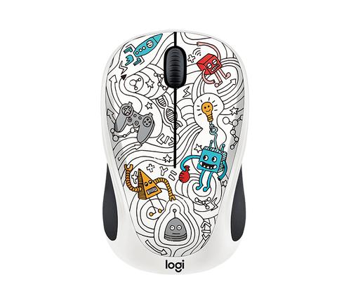 Logitech Techie White RF Wireless Optisch 1000DPI Ambidextrös Multi Maus (Mehrfarbig)