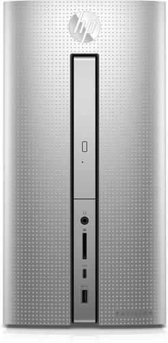 HP Pavilion Desktop PC – 570-p019ng (Silber, Schwarz)
