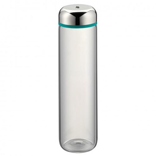 WMF Basic 750ml Glas, Kunststoff, Silikon Edelstahl, Türkis Trinkflasche (Edelstahl, Transparent, Türkis)