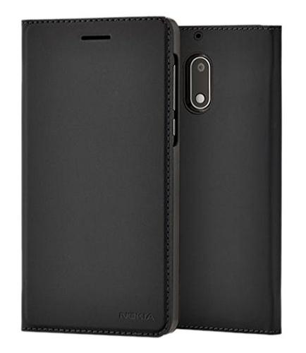 Nokia Slim Flip Cover CP-302 Ruckfall Schwarz (Schwarz)