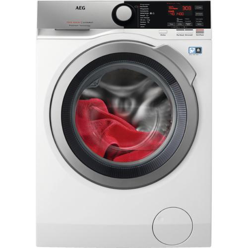 AEG L7FE76484 Freistehend Frontlader 8kg 1400RPM A+++ Weiß Waschmaschine (Weiß)