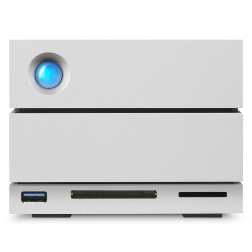 LaCie 2big Dock Thunderbolt 3 12TB 12000GB Desktop Silber Disk-Array (Silber)