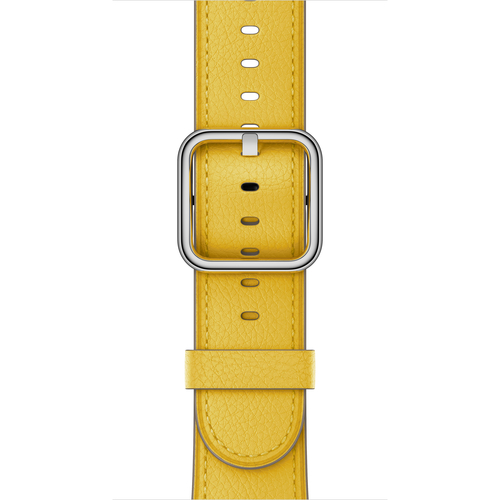 apple 38 mm klassisches lederarmband sonnenblume gelb in duisburg kaufen smartwatch zubeh r. Black Bedroom Furniture Sets. Home Design Ideas