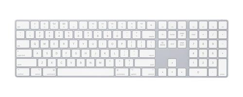 Apple MQ052Z/A Bluetooth QWERTY Englisch Weiß Tastatur (Weiß)