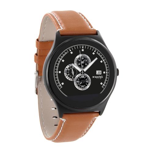 xlyne QIN XW Prime II 1.22Zoll TFT 60g Schwarz Smartwatch (Braun, Schwarz)