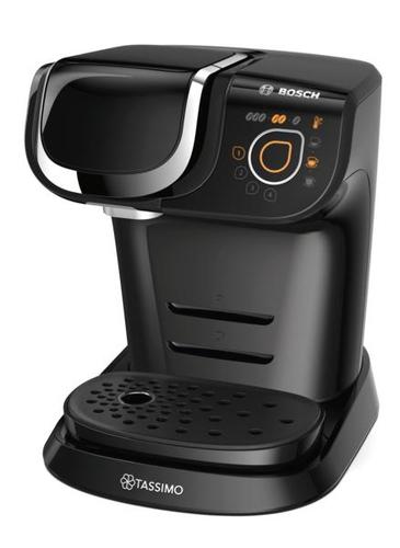 Bosch TAS6002 Freistehend Vollautomatisch Pad-Kaffeemaschine 1.3l Schwarz Kaffeemaschine (Schwarz)