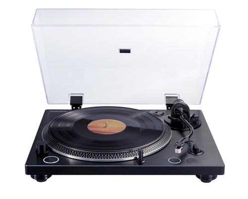 Thomson TT600BT Direct drive audio turntable Schwarz Plattenspieler (Aluminium, Schwarz)