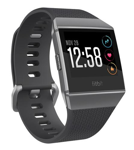 Fitbit Ionic 1.42Zoll LCD GPS Schwarz, Graphit, Grau Smartwatch (Grau, Schwarz, Graphit, Grau)