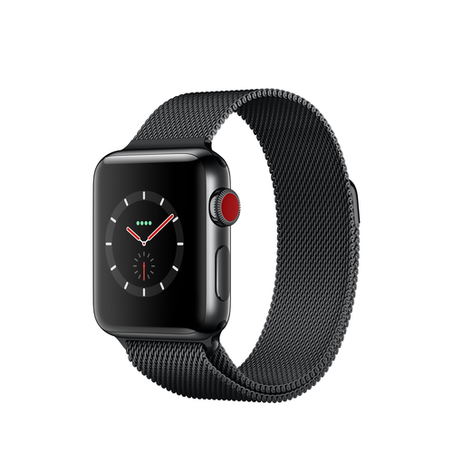 apple watch series 3 oled schwarz smartwatch schwarz schwarz in leipzig kaufen. Black Bedroom Furniture Sets. Home Design Ideas